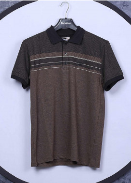 Sanaulla Exclusive Range Cotton Casual T-Shirts for Men - 5025 Brown