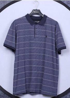 Sanaulla Exclusive Range Cotton Casual Men T-Shirts - 5060 Blue
