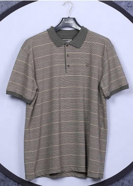 Sanaulla Exclusive Range Cotton Casual Men T-Shirts -  5060 Brown