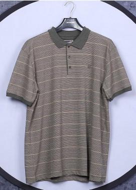 Sanaulla Exclusive Range Cotton Casual Men T-Shirts - 5060 Brown