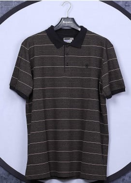 Sanaulla Exclusive Range Cotton Casual Men T-Shirts -  5060 Dark Brown