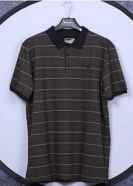 Sanaulla Exclusive Range Cotton Casual Men T-Shirts - 5060 Dark Brown