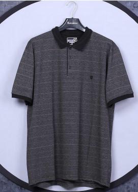 Sanaulla Exclusive Range Cotton Casual T-Shirts for Men - 5060 Dark Grey