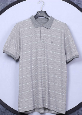 Sanaulla Exclusive Range Cotton Casual T-Shirts for Men -  5060 Light Grey