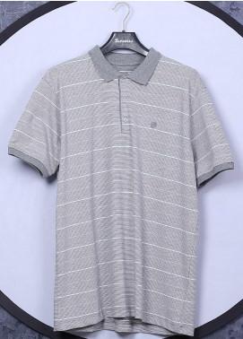 Sanaulla Exclusive Range Cotton Casual T-Shirts for Men - 5060 Light Grey