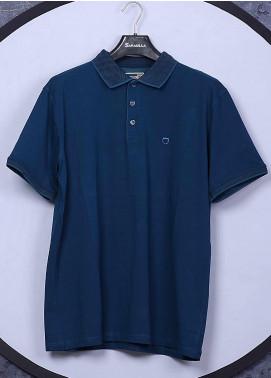 Sanaulla Exclusive Range Cotton Casual Men T-Shirts - 5306 Blue