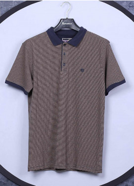 Sanaulla Exclusive Range Cotton Casual Men T-Shirts -  5311 Brown