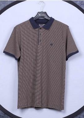 Sanaulla Exclusive Range Cotton Casual Men T-Shirts - 5311 Brown