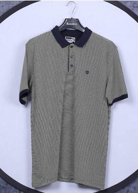 Sanaulla Exclusive Range Cotton Casual Men T-Shirts - 5311 Green
