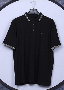 Sanaulla Exclusive Range Cotton Casual T-Shirts for Men -  5317 Black