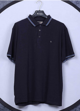 Sanaulla Exclusive Range Cotton Casual T-Shirts for Men -  5317 Blue