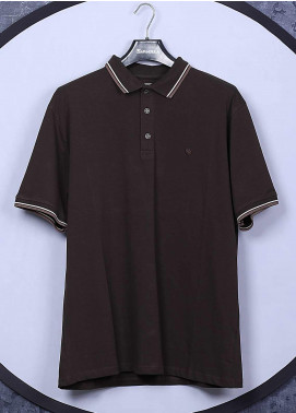 Sanaulla Exclusive Range Cotton Casual Men T-Shirts - 5317 Brown