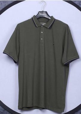 Sanaulla Exclusive Range Cotton Casual Men T-Shirts - 5317 Green