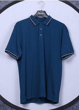Sanaulla Exclusive Range Cotton Casual Men T-Shirts - 5317 Royal Blue