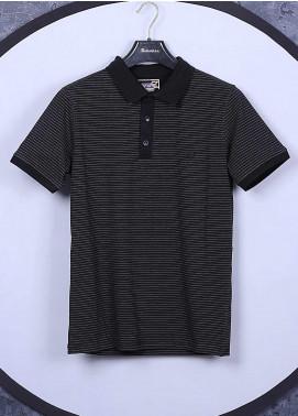 Sanaulla Exclusive Range Cotton Casual Mens T-Shirts -  5351 Black