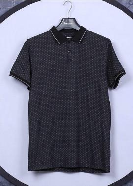 Sanaulla Exclusive Range Cotton Casual Men T-Shirts - 5525 Black
