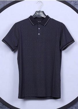Sanaulla Exclusive Range Cotton Casual Men T-Shirts - 5525 Navy Blue