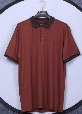 Sanaulla Exclusive Range Cotton Casual Men T-Shirts - 5570 Rust