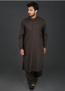 Sanaulla Exclusive Range Cotton Formal Men Kameez Shalwar -  P-4 Green