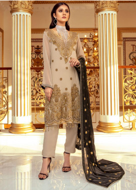 Meraki by ZS Textiles Embroidered Chiffon Unstitched 3 Piece Suit ZS21M 07 - Luxury Collection