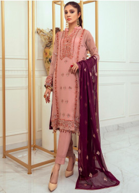 Meraki by ZS Textiles Embroidered Chiffon Unstitched 3 Piece Suit ZS21M 11 - Luxury Collection