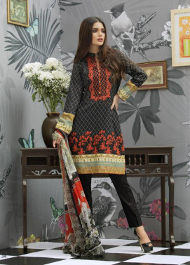 Monsoon Festivana Embroidered Lawn Unstitched 3 Piece Suit MF17L2 06