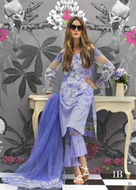 Monsoon Festivana Embroidered Lawn Unstitched 3 Piece Suit MF17L2 1B