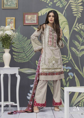 Monsoon Festivana Embroidered Lawn Unstitched 3 Piece Suit MF17L2 2A