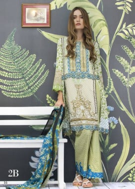 Monsoon Festivana Embroidered Lawn Unstitched 3 Piece Suit MF17L2 2B