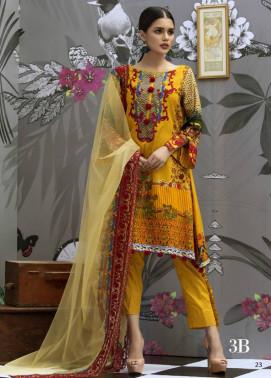 Monsoon Festivana Embroidered Lawn Unstitched 3 Piece Suit MF17L2 3B