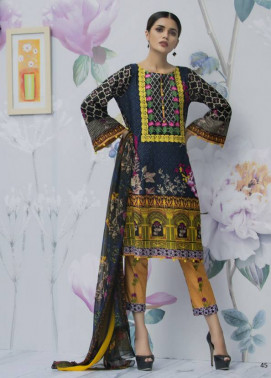 Monsoon Festivana Embroidered Lawn Unstitched 3 Piece Suit MF17L2 8A