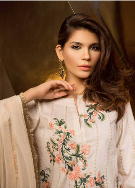 Mahgul by Al Zohaib Embroidered Lawn Unstitched 3 Piece Suit MG18E 02 - Eid Collection