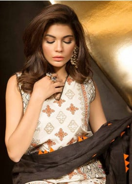 Mahgul by Al Zohaib Embroidered Lawn Unstitched 3 Piece Suit MG18E 3B - Eid Collection