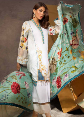Mahgul by Al Zohaib Embroidered Lawn Unstitched 3 Piece Suit MG18E 7A - Eid Collection
