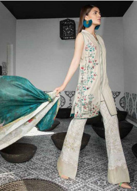 Mahgul by Al Zohaib Embroidered Lawn Unstitched 3 Piece Suit MG18L 2A - Spring / Summer Collection