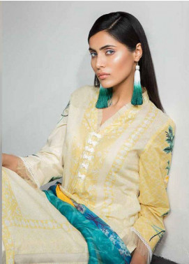 Mahgul by Al Zohaib Embroidered Lawn Unstitched 3 Piece Suit MG18L 7B - Spring / Summer Collection