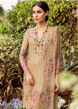 Mina Hasan Embroidered Chiffon Unstitched 3 Piece Suit MH18C SORAYA - Festive Collection