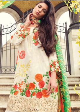 Mina Hasan Embroidered Lawn Unstitched 3 Piece Suit MH18L 1A - Festive Collection