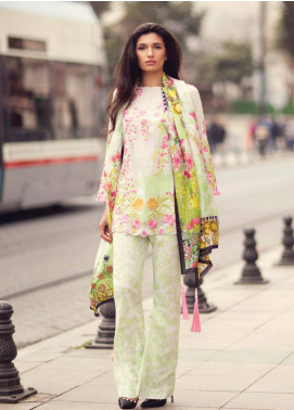 Mina Hasan Embroidered Lawn Unstitched 3 Piece Suit MH18L 7A - Festive Collection