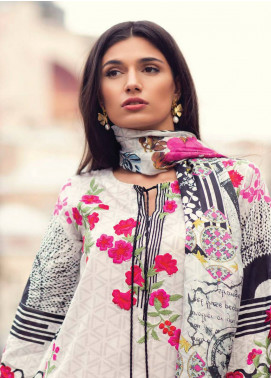Mina Hasan Embroidered Lawn Unstitched 3 Piece Suit MH18L 8B - Festive Collection