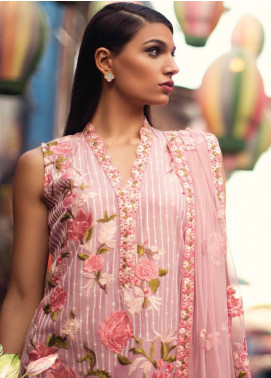 Mina Hasan Embroidered Lawn Unstitched 3 Piece Suit MH18L 9A - Festive Collection
