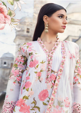 Mina Hasan Embroidered Lawn Unstitched 3 Piece Suit MH18L 9B - Festive Collection