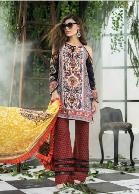 Maheen Karim by ZS Textile Embroidered Lawn Unstitched 3 Piece Suit MHK18L 01 - Spring / Summer Collection
