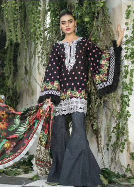 Maheen Karim by ZS Textile Embroidered Lawn Unstitched 3 Piece Suit MHK18L 03 - Spring / Summer Collection