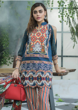 Maheen Karim by ZS Textile Embroidered Lawn Unstitched 3 Piece Suit MHK18L 09 - Spring / Summer Collection