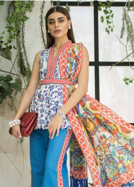 Maheen Karim by ZS Textile Embroidered Lawn Unstitched 3 Piece Suit MHK18L 10 - Spring / Summer Collection