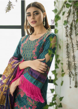 Maheen Karim by ZS Textile Embroidered Lawn Unstitched 3 Piece Suit MHK18L 11 - Spring / Summer Collection