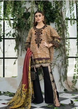 Maheen Karim by ZS Textile Embroidered Lawn Unstitched 3 Piece Suit MHK18L 12 - Spring / Summer Collection