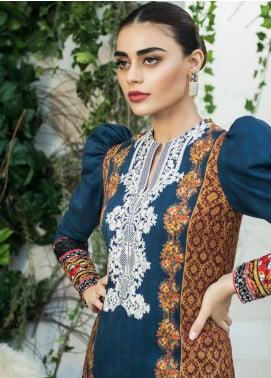 Maheen Karim by ZS Textile Embroidered Lawn Unstitched 3 Piece Suit MHK18L 14 - Spring / Summer Collection