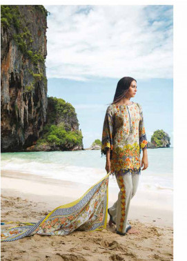 Maheen Taseer Embroidered Lawn Unstitched 3 Piece Suit MHT18L 1A - Spring / Summer Collection